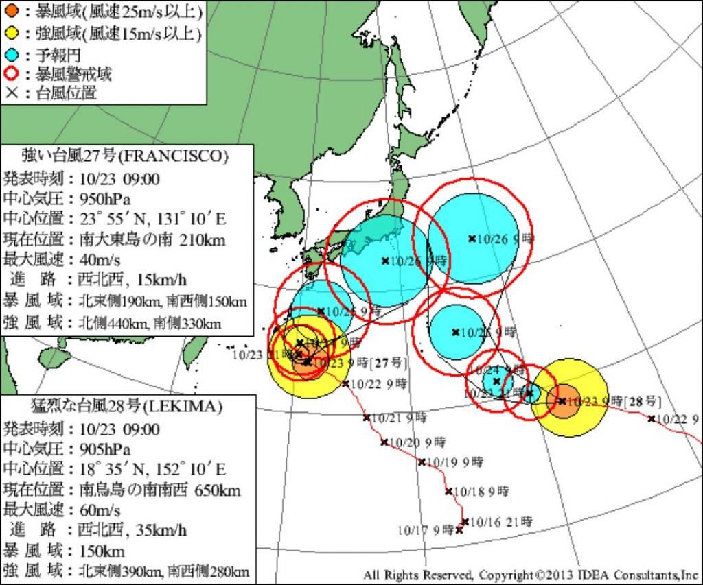 台風27/28号
