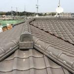 屋根工事【和瓦の棟取り直し】