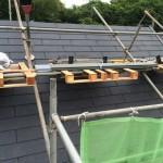 スレート系屋根[グラッサ600]葺き替え工事。スレート系はこの材料ならいいかも?