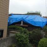 屋根工事中に雨が降っても雨漏りしません