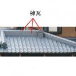 「棟瓦 むねがわら」難しい屋根の専門用語をやさしく解説。今日の屋根用語!第78日目