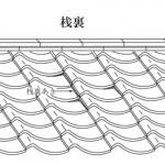 「桟裏 さんうら」難しい屋根の専門用語をやさしく解説。今日の屋根用語!第65日目