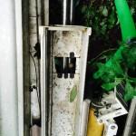 雨樋の落とし口はこうなってます!集水器を上から見てみた。