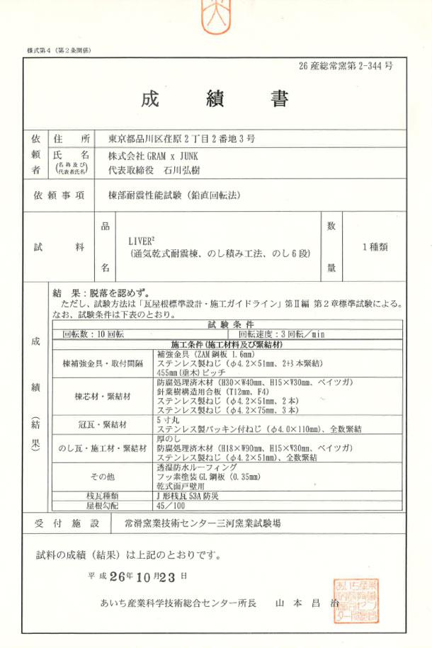標準試験合格1