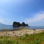 島に歩いて渡る?三四郎島のトンボロ現象