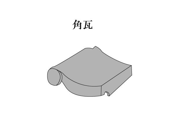 「角瓦 かどがわら」難しい屋根の専門用語をやさしく解説。今日の屋根用語!第160日目