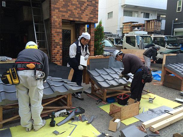 2年間で5人合格! 技能検定「かわらぶき」を受験する屋根・瓦職人さんを「最短1日研修」で応援します!