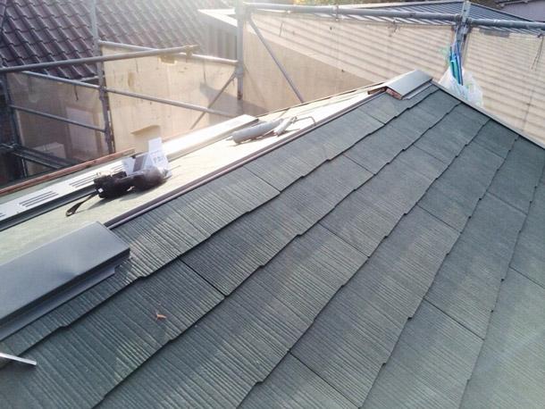 緑屋根施工4