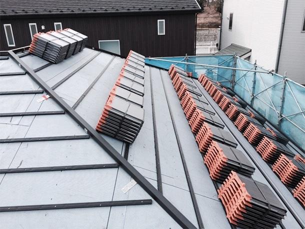 平板瓦の屋根工事3