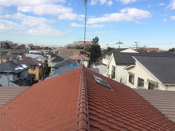 日本瓦の屋根の点検・雨漏り調査1