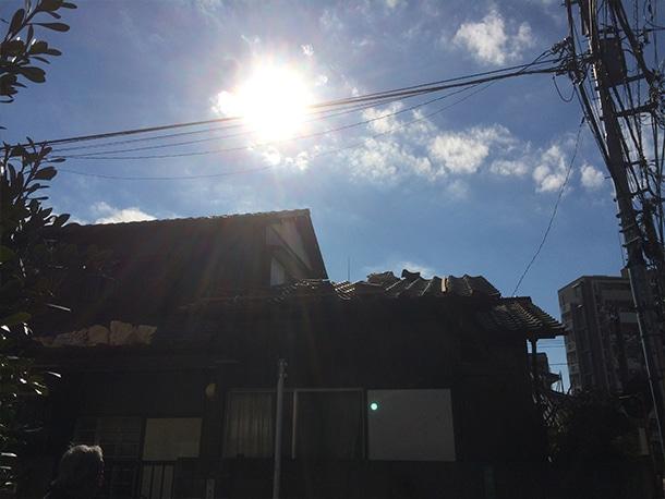 世田谷区砧で日本瓦の棟取り直しの工事。熨斗積みから7寸丸1本伏せに変更し、地震で崩れにくい瓦の棟にしました!