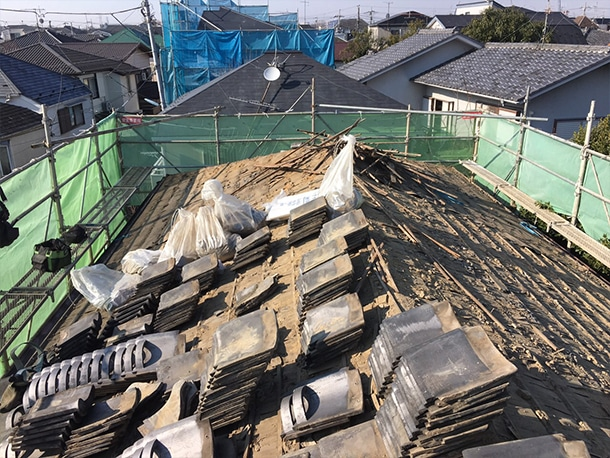 東京都杉並区、日本瓦から日本瓦への葺き替え3