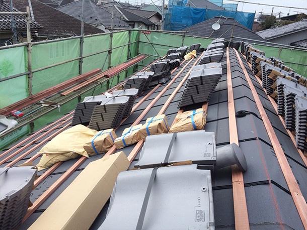 東京都杉並区、日本瓦から日本瓦への葺き替え6
