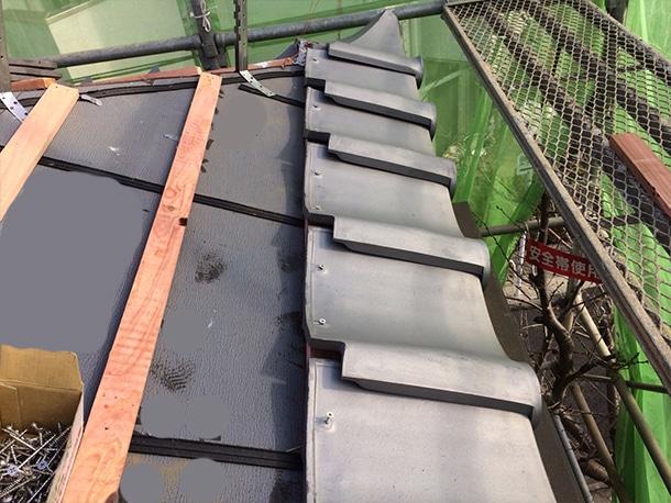 東京都杉並区、日本瓦から日本瓦への耐震屋根リフォームで葺き替え工事13