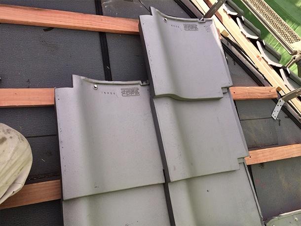 東京都杉並区、日本瓦から日本瓦への耐震屋根リフォームで葺き替え工事15