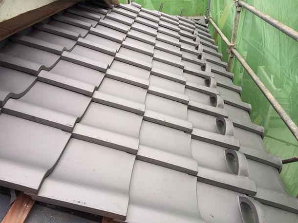 東京都杉並区、日本瓦から日本瓦への耐震屋根リフォームで葺き替え工事16