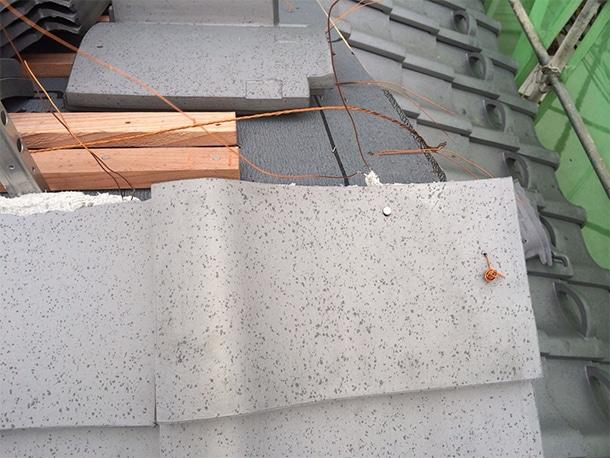 東京都杉並区、日本瓦から日本瓦への耐震屋根リフォームで葺き替え工事19