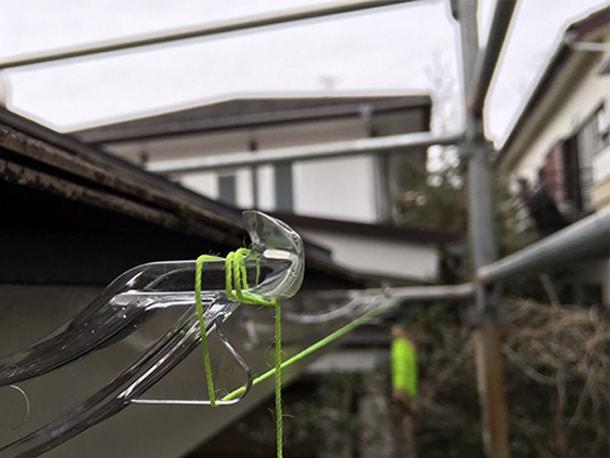 横浜市港北区、雨どいの設置工事、軒どいの設置3