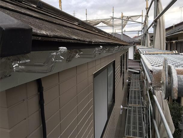 横浜市港北区、雨どいの設置工事、軒どいの設置5
