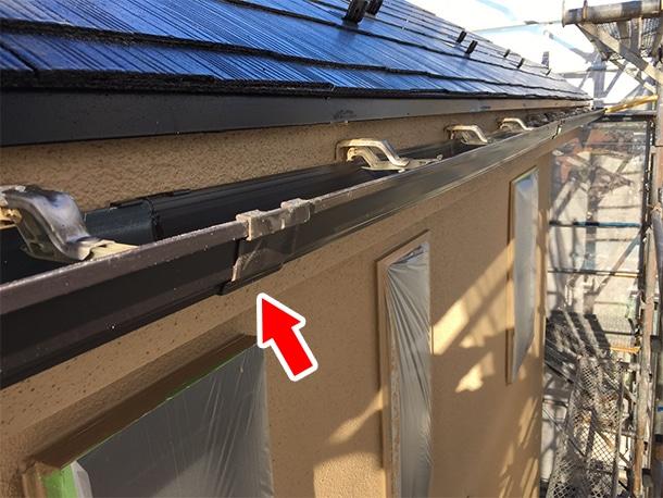 東京都世田谷区、外壁塗装のついでに雨漏りしている雨どいの部分交換の修理3