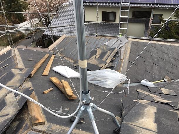 さいたま市桜区、スレート屋根の葺き替え工事3