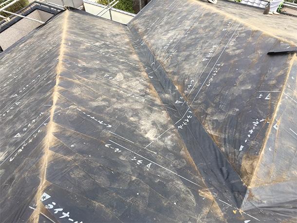 さいたま市桜区、スレート屋根の葺き替え工事4