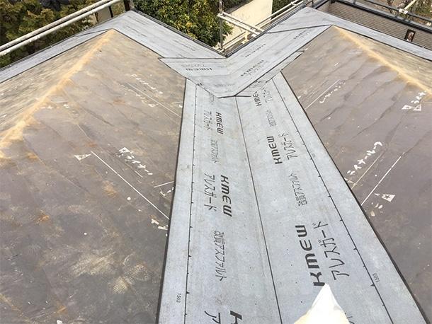 さいたま市桜区、スレート屋根の葺き替え工事5