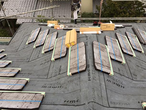 さいたま市桜区、スレート屋根の葺き替え工事6
