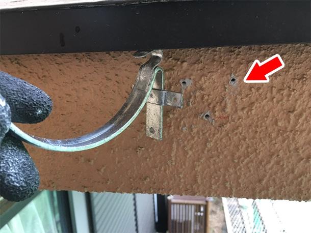 東京都杉並区、屋根の雨どいの交換工事、雨どいの設置工事2
