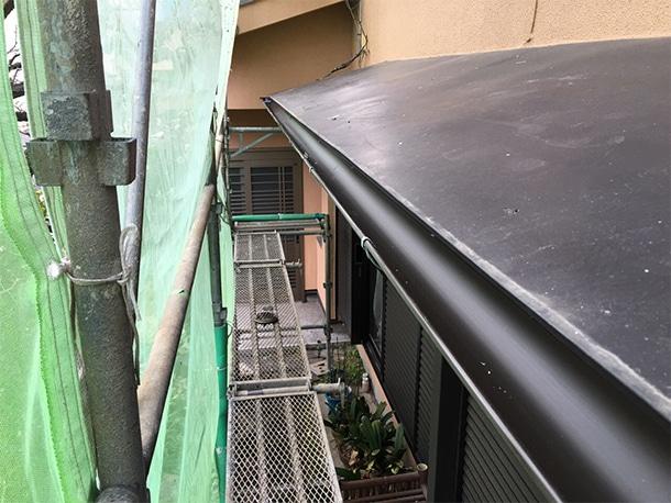 東京都杉並区、屋根の雨どいの交換工事、雨どいの設置工事4