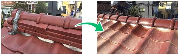 瓦屋根の耐震化工事ベスト3−2
