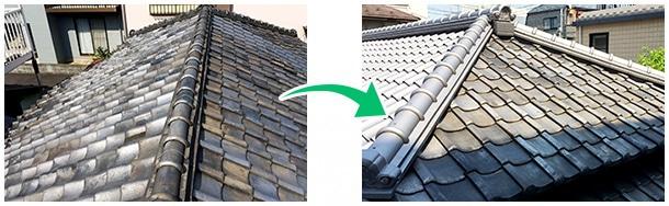 瓦屋根の耐震化工事ベスト3−3