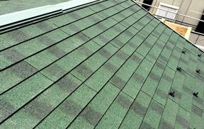 【カバー工法】天然石金属屋根材で重ね葺き