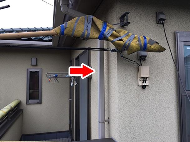 東京都品川区、外装リフォーム、雨どいの一部取り付け直し工事2
