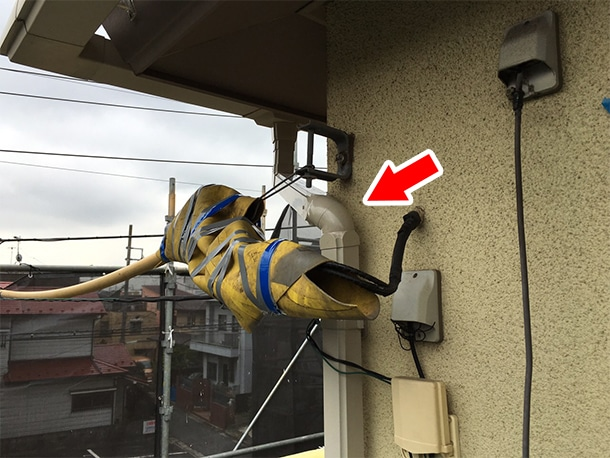 東京都品川区、外装リフォーム、雨どいの一部取り付け直し工事4