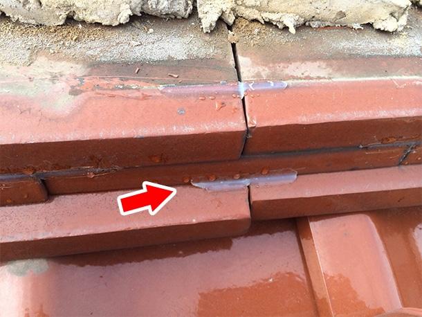東京都杉並区、和型の釉薬瓦、屋根の棟取り直し耐震化工事2