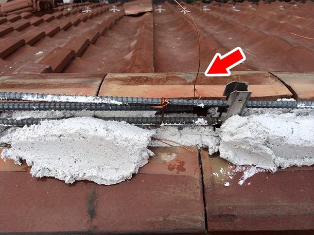 東京都杉並区、和型の釉薬瓦の屋根、棟の取り直し、棟瓦の耐震化2