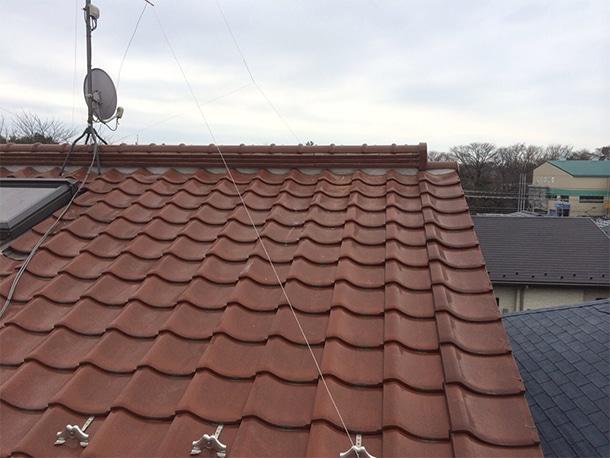 東京都杉並区、和型の釉薬瓦の屋根、棟の取り直し、棟瓦の耐震化9