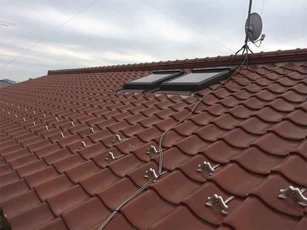 東京都杉並区、和型の釉薬瓦の屋根、棟の取り直し、棟瓦の耐震化10