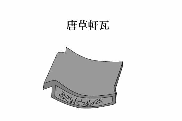 「唐草軒瓦 からくさのきがわら」難しい屋根の専門用語をやさしく解説。今日の屋根用語!第255日目