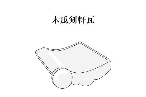 「木瓜剣軒瓦 もっこうけんのきがわら(もっこけんのきがわら)」難しい屋根の専門用語をやさしく解説。今日の屋根用語!第287日目