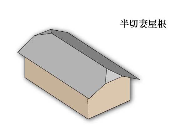 「半切妻屋根 はんきりづまやね」難しい屋根の専門用語をやさしく解説。今日の屋根用語!第304日目