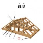 「母屋 もや」難しい屋根の専門用語をやさしく解説。今日の屋根用語!第306日目