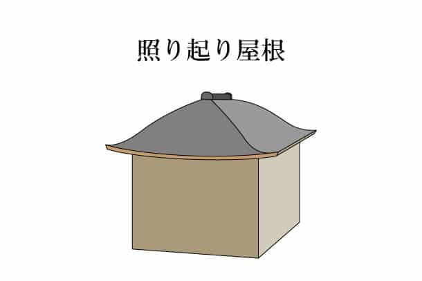 「照り起り屋根 てりむくりやね」難しい屋根の専門用語をやさしく解説。今日の屋根用語!第351日目