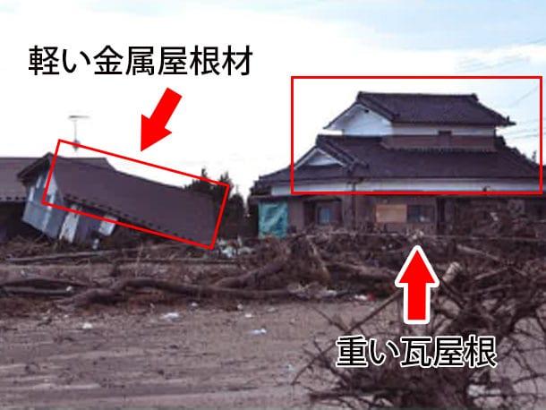 軽い屋根と思い瓦屋根 地震に強い? 弱い?