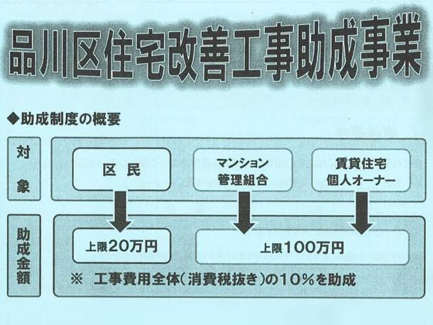 瓦をおろすと補助金 東京都品川区