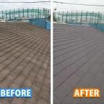 【施工事例】築20年アスベスト入りスレート屋根の葺き替え工事を行いました【カラーベストコロニアル】