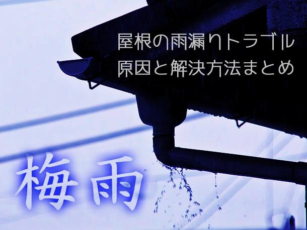 【最新】梅雨時に多い屋根の雨漏りトラブルの原因5つと解決法まとめ【費用目安付き】