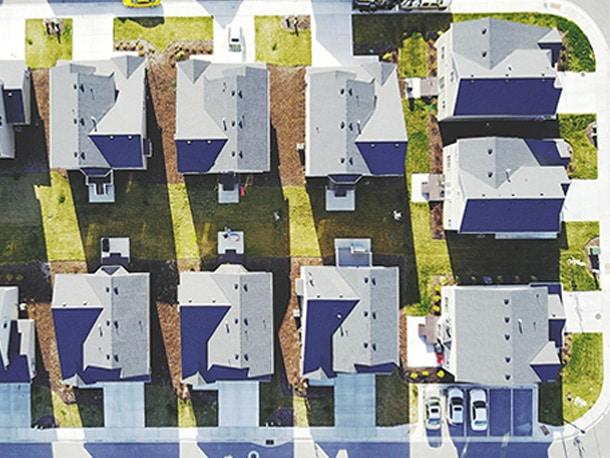 ドローンならご近所さんもまとめて屋根点検