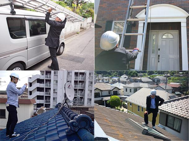 屋根に上がるのに屋根屋は意外と神経使ってます!